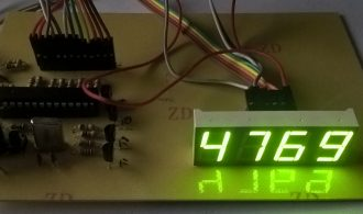 Four digit BCD 7 segments display and atmega328