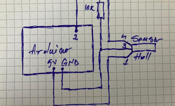 How to use  an industrial hall effect sensor with arduino